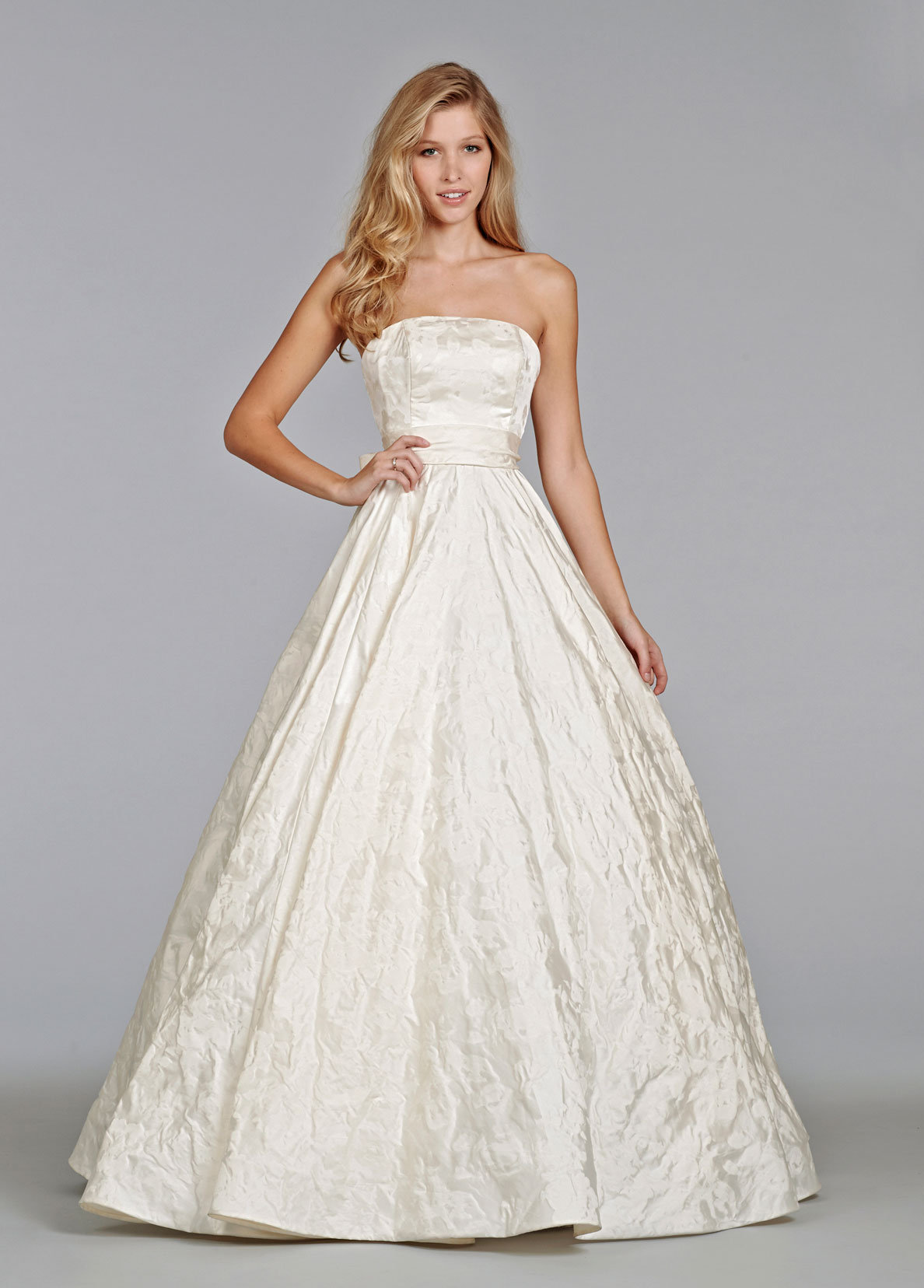 To Save Tara Keely By Lazaro Bridal Gown Ivory Textured