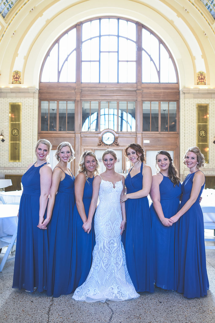 Baker Street Station, Stormy Blue, Fort Wayne, Indiana, Train Station Wedding