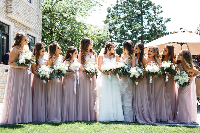Bridesmaids dresses by hayley paige what real brides are wearingshare your wedding photos mightylinksfo