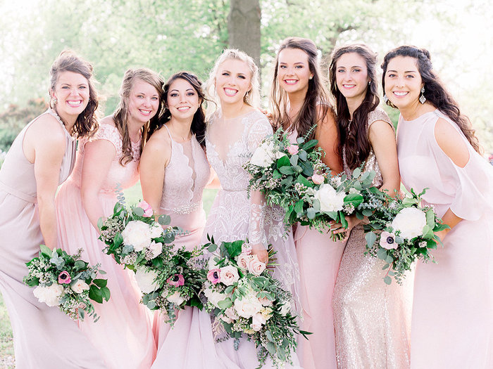 Meghan and her beautiful bridesmaids