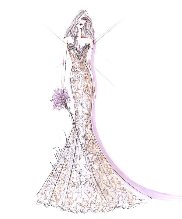 Style 9452  Sketch