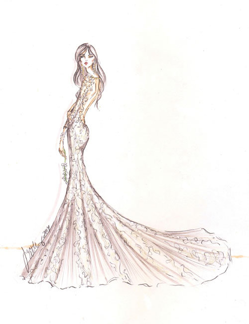 Style 9458  Sketch