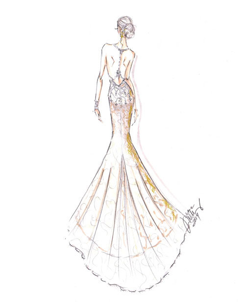 Style 9463  Sketch