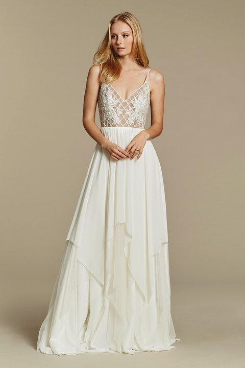 Blush by Hayley Paige Style 1607 Honeycomb Bridal Gown