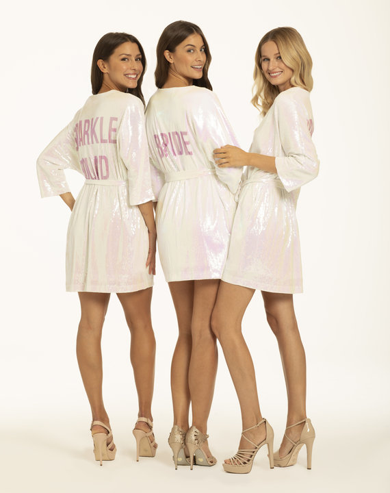 Athleisure Bride Sequin Robe