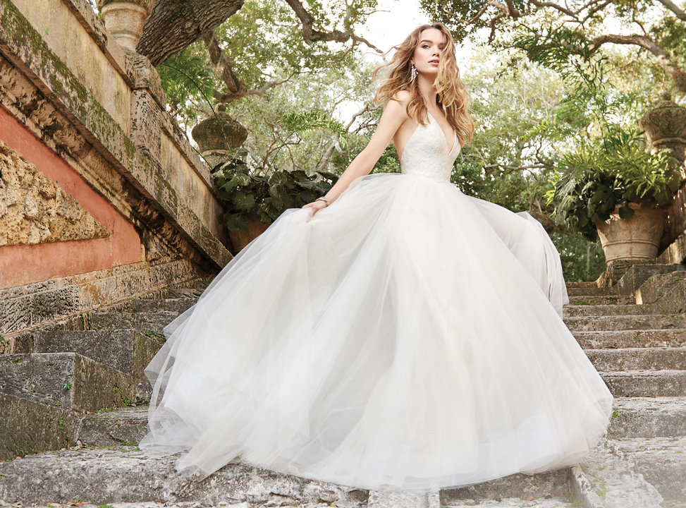 Bridal gowns and wedding dresses by jlm couture style 8504 for T back wedding dress