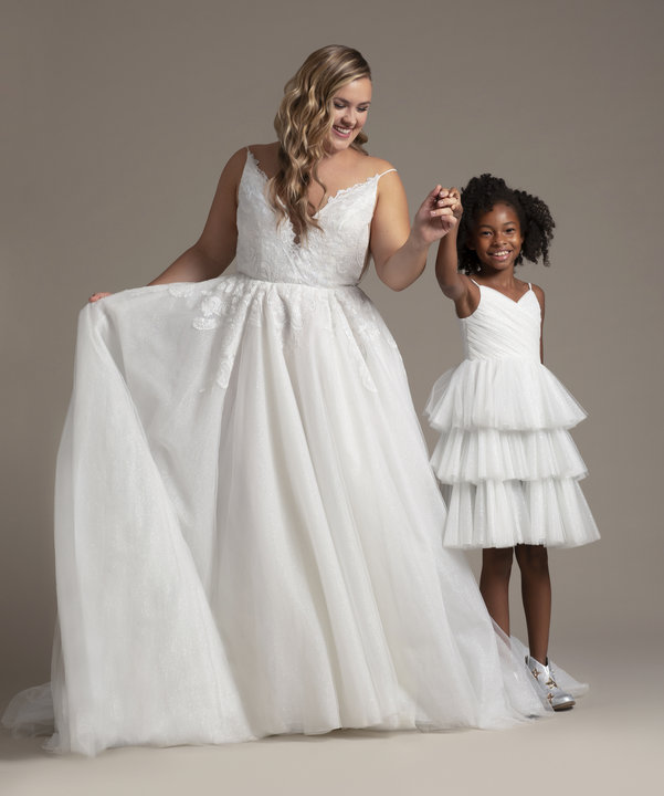 La Petite by Hayley Paige Style 52021 Dinah Flower Girl Dress