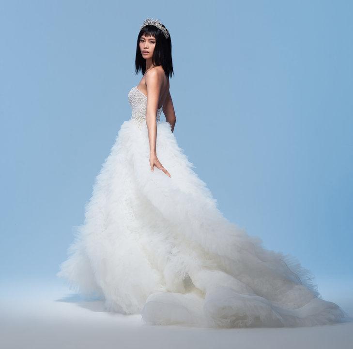 Lazaro Style 32018 Adriana Bridal Gown